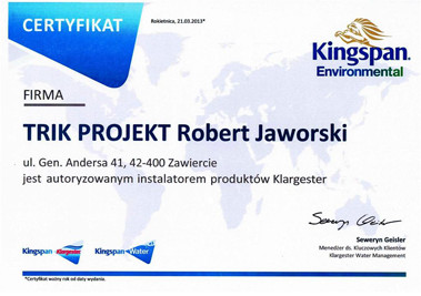 Trikprojekt certyfikat Robert Jaworski